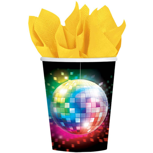 Disco Fever 9oz Paper Cups (8ct)