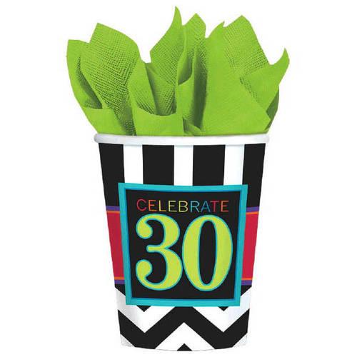 30 Celebrate 9oz Paper Cups (8ct)