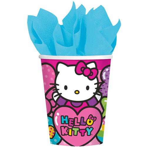 Hello Kitty Rainbow 9oz Paper Cups (8ct)
