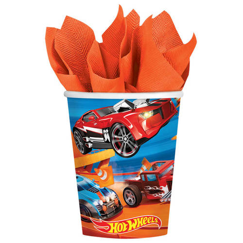 Hot Wheels Wild Racer 9oz Paper Cups (8 ct)