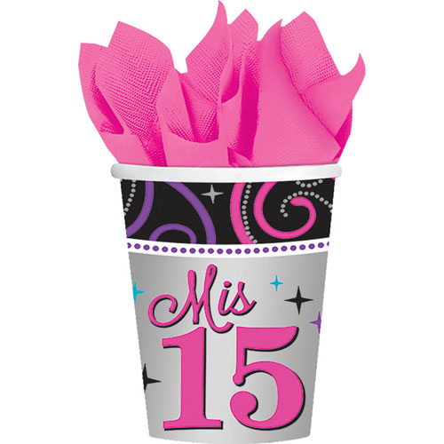 Mis Quince Anos 9oz Paper Cups (8ct)