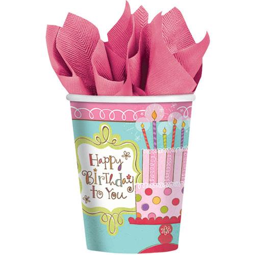 Sweet Stuff Birthday 9oz Cups (8ct)