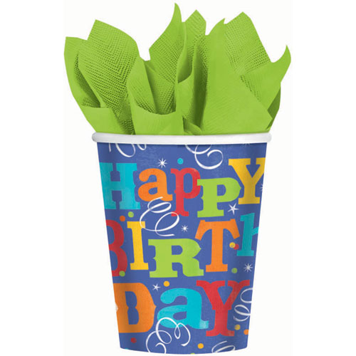 Birthday Fever 9oz Cups (8ct)