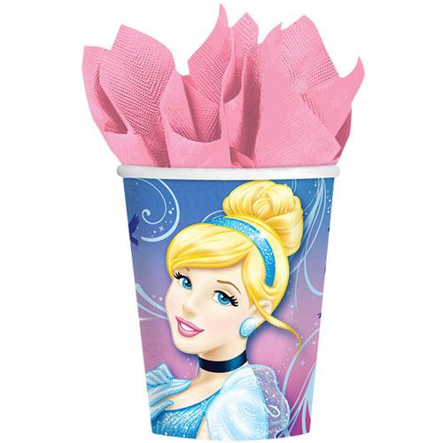 Cinderella Sparkle 9oz Paper Cups (8ct)