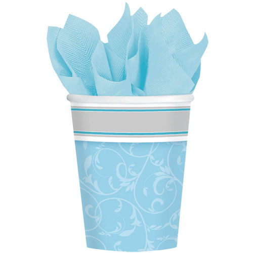 Blessings Blue 9oz Paper Cups (8ct)