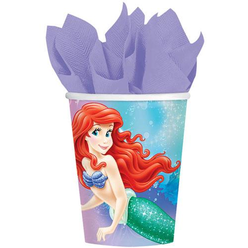 Little Mermaid Sparkle 9oz Paper Cups (8ct)