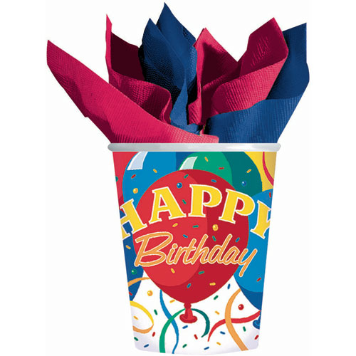 Birthday Bash 9oz Paper Cups (8ct)