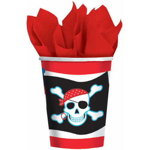 Pirate Party 9oz Paper Cups (8ct)