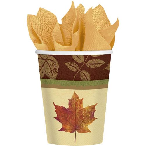 Fall Elegance 9oz Paper Cups (8ct)