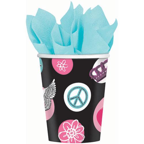 Rocker Princess 9oz Paper Cups (8ct)