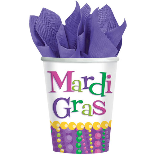 Mardi Gras Celebration 9oz Paper Cups (8ct)