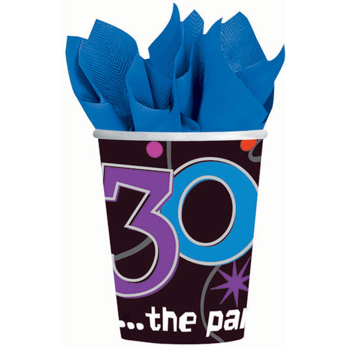 The Party Continues 30 9oz Paper Cups (8ct)