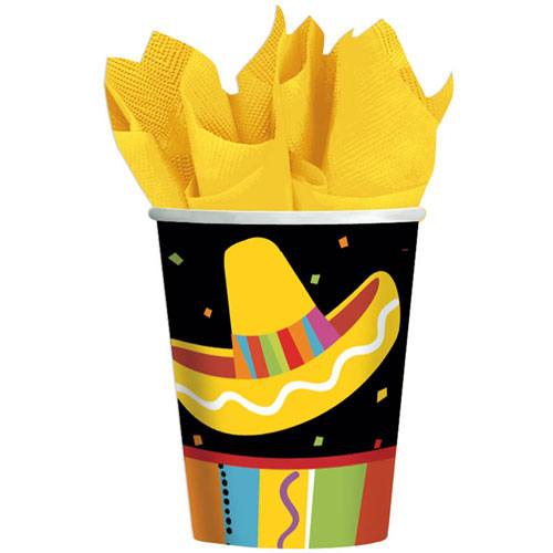 Fiesta Fun 9oz Paper Cups (8ct)