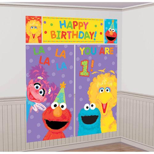 Sesame Street 1st Birthday Scene Setters