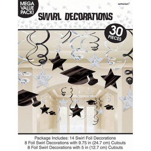 Congrats Grad White Swirls Mega Pack