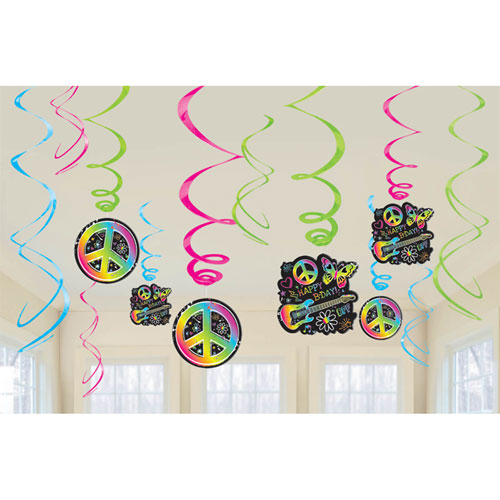 Neon Birthday Swirls
