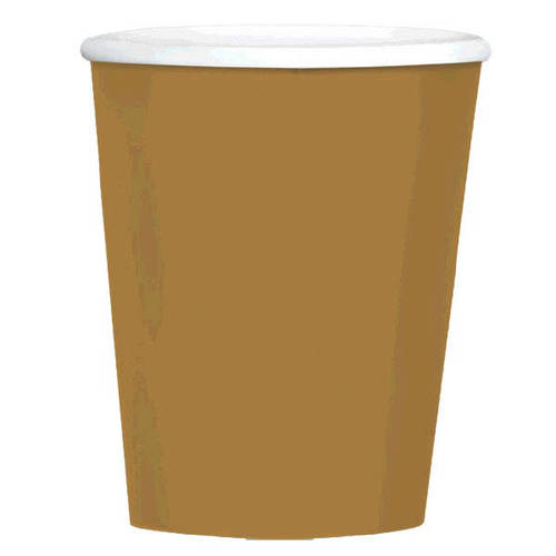 Gold 12oz Coffee Cups
