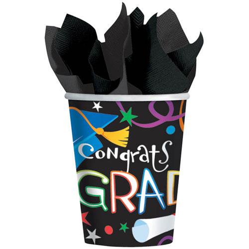 Grad Celebration 9oz Paper Cups (8ct)
