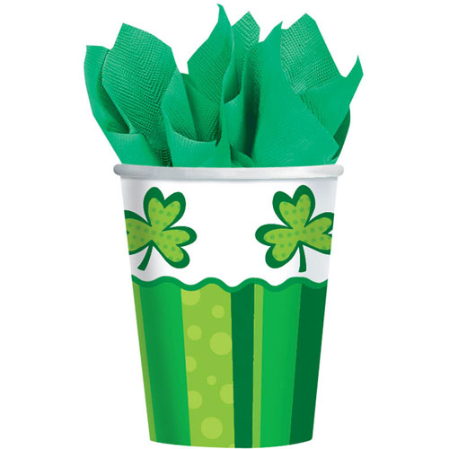 St. Patrick's Day Cheer 9oz Paper Cups (8ct)
