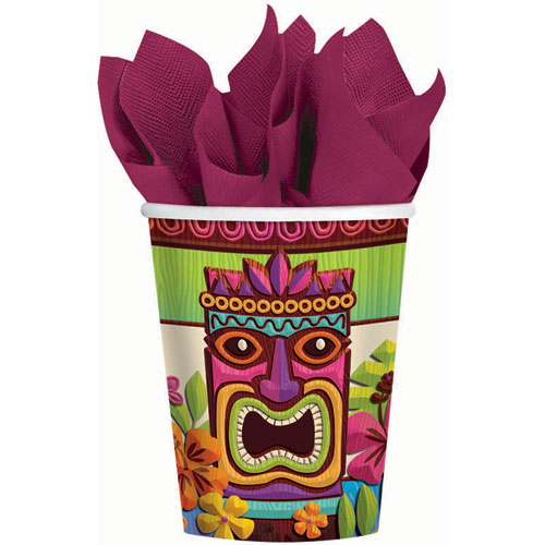 Tropical Tiki 9oz Paper Cups (8ct)