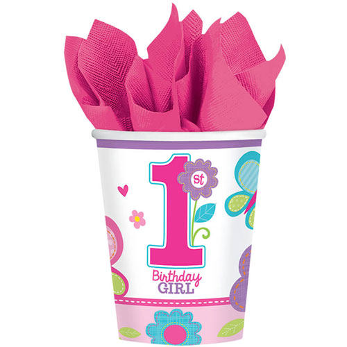Sweet Birthday Girl 9oz Paper Cups (18ct)
