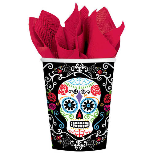 Day of the Dead 9oz Paper Cups (18ct)