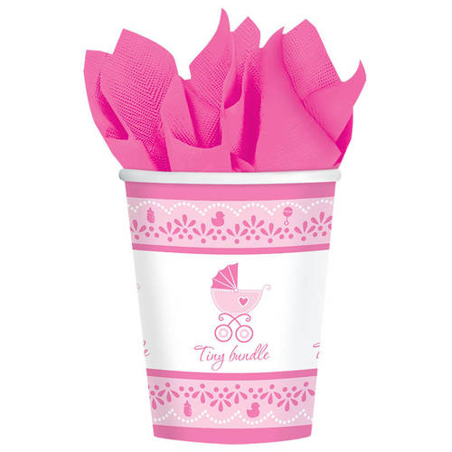 Celebrate Baby Girl 9oz Cups (18ct)