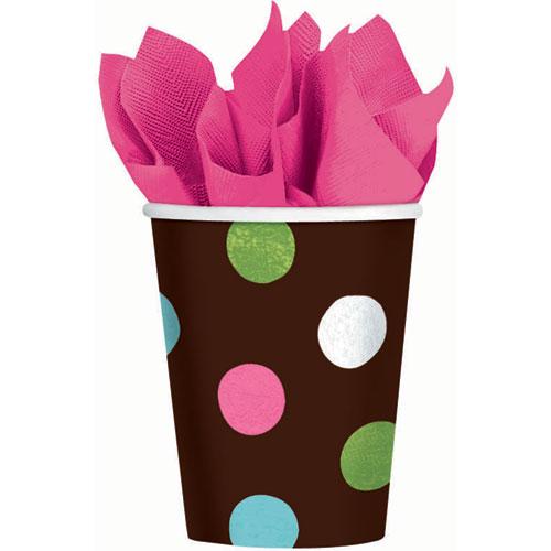 Warm Polka Dot 9oz Paper Cups (18ct)