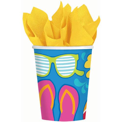 Summer Splash 9oz Paper Cups (18ct)