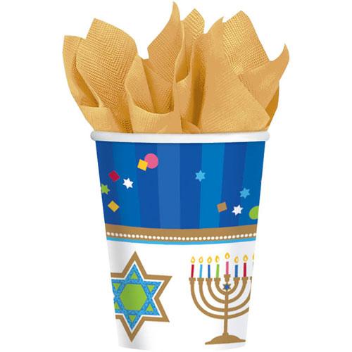 Hanukkah Celebrations 9oz Paper Cups (18ct)