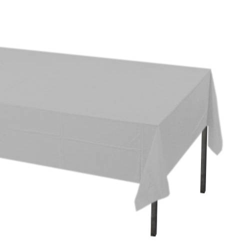 Silver Rectangle Plastic Tablecover
