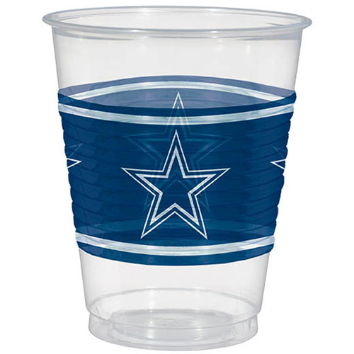 Dallas Cowboys 16oz Plastic Cups (25ct)