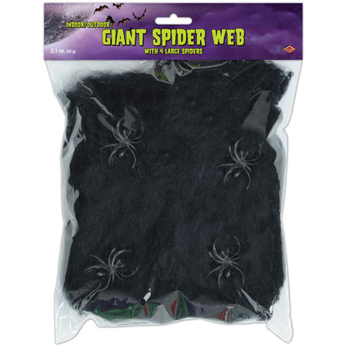Black Giant Spider Webbing