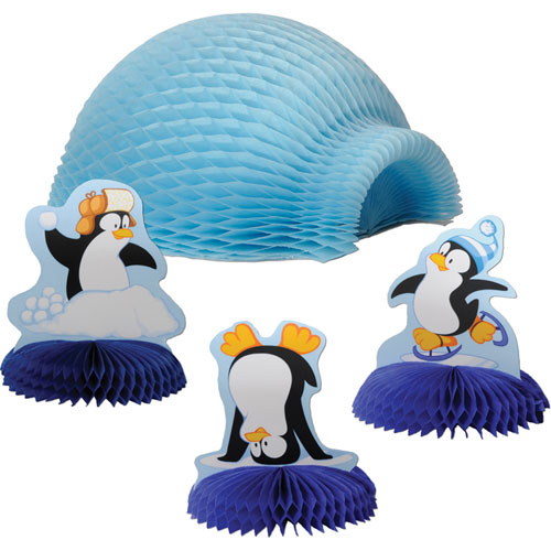Tabletop Igloo with Penguins