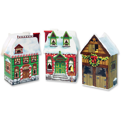 Christmas Village Favor Boxes