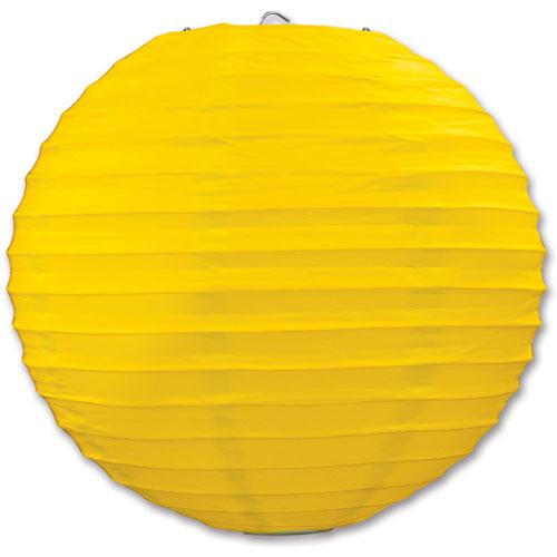 Yellow Round Paper Lanterns (3ct)
