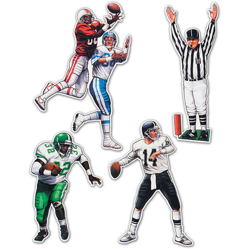 "20"" Football Figures Cutouts"