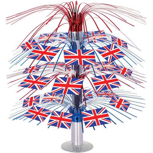 British Flag Cascading Centerpiece