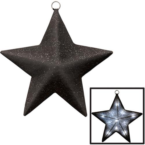 Light-Up Sparkle Star  black