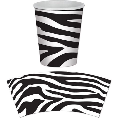 Zebra Print Beverage Cups