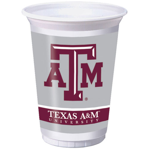Texas A & M 20oz Plastic Cups (8ct)