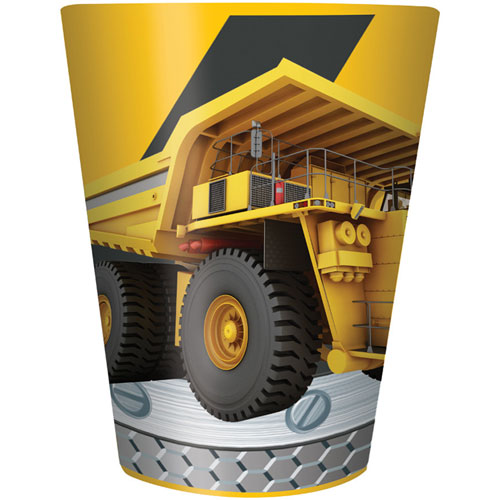 Construction Birthday Zone 16 Oz Plastic Keepsake Cup