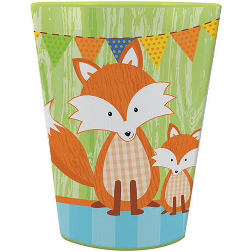 Forest Fox 16 Oz Plastic Keepsake Cup