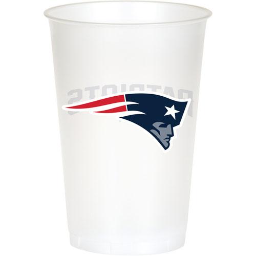 New England Patriots 20oz Plastic Cups (8ct)