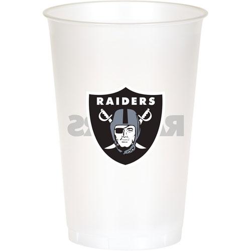 Oakland Raiders 20oz Plastic Cups (8ct)