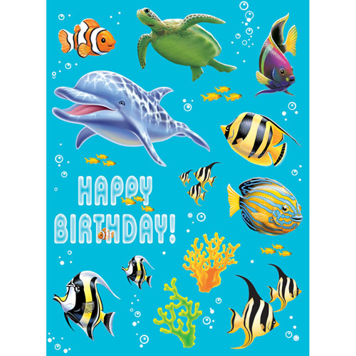 Ocean Party Stickers, Value