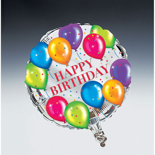 "Birthday Balloons 18"" Foil Balloon"