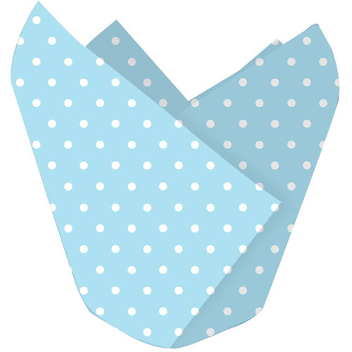 Baking Cups- Blue Polka Dot