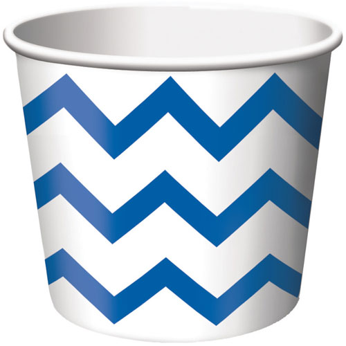 Treat Cups, Chevron Stripe, Blue