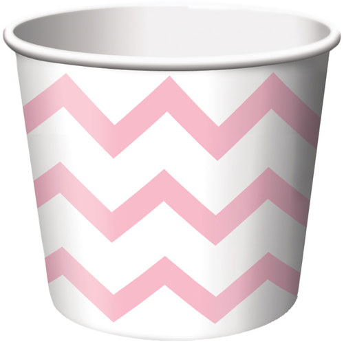 Treat Cups, Chevron Stripe, Classic Pink